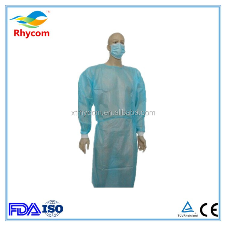 Free samples china manufacture dental cheap disposable sterile surgical gown white green medical surgical gown