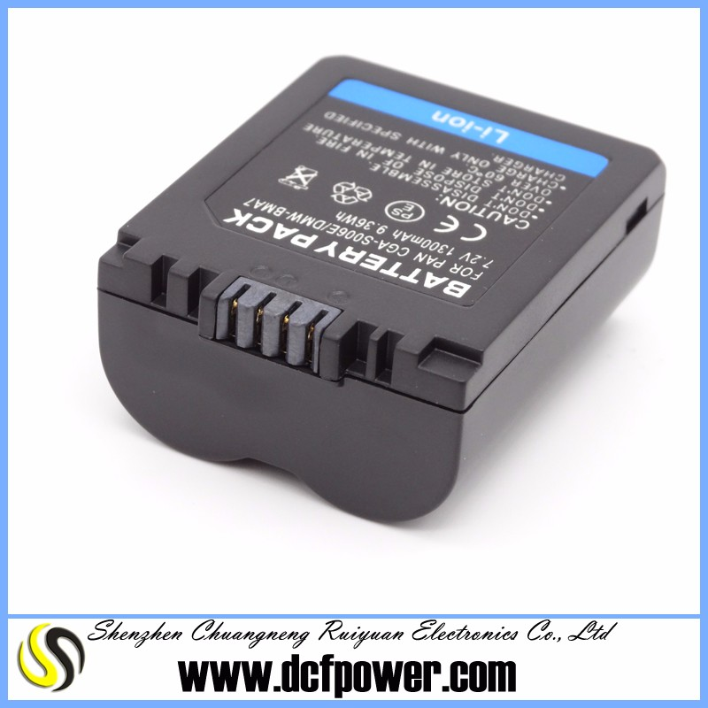 Digital Camera Battery For CGR-S006E CGR-S006 CGA-S006E Lumix DMC-FZ50 FZ30 FZ7 Replacement battery Pack