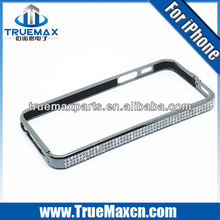 High quality gold bumper case for iphone 5, Luxury Diamond bumper for iPhone 5