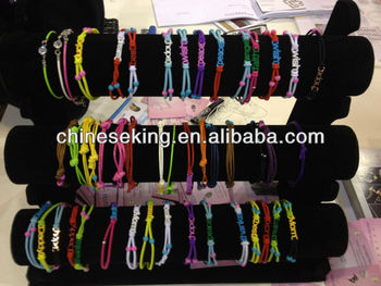adjustable string cord metal tag bracelets knotted braid friendship bracelets cheap hand woven bracelets for promotion gifts