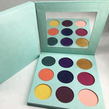 Custom Your Own Logo Private Label 9 Color Cardboard Eyeshadow Palette Wholesale Cosmetics