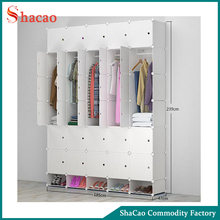 White Plastic DIY Cabinet Fashion Foldable Wardrobe