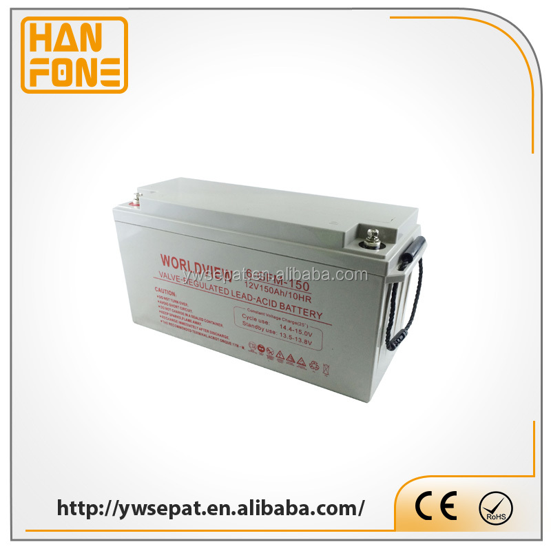 Rechargeable Battery 150AH Deep Cycle ACID Best Battery For Solar Power