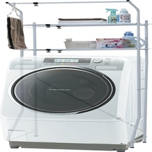 2 layers toilet bathroom over wash machine storage <strong>shelf</strong> rack for home