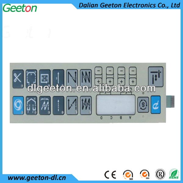 China Custom Snap Dome Touch Switch Membrane Keyboard With FPC Manufacture