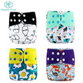 Happyflute new patterns waterproof Breathable Soft Polyester Baby Cloth Diapers