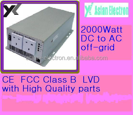 Inverter DC to AC 2000W output 120VAC with certificates