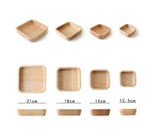 High Quality Different sizes for Food Sushi Bread With Handle Wooden Square <strong>Plate</strong>