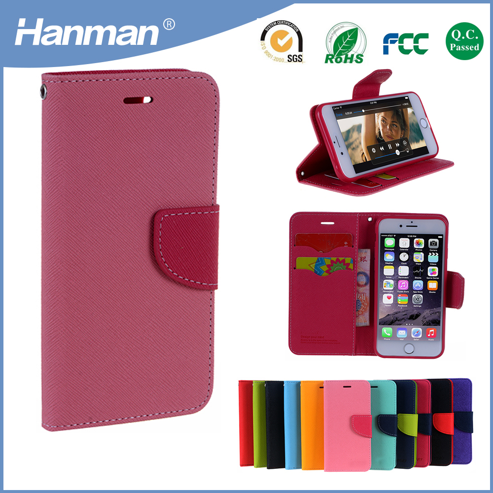 Factory Direct Sale Super new ideas design wallet style pu leather tablet case for iphone 6 plus case