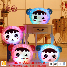 LED lighted cushion pillow sheep shaped glow plush cushion pillow with color light
