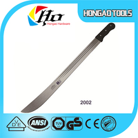 M2002 High quality sugarcane cutlass matchet or machete with wooden or plastic handle