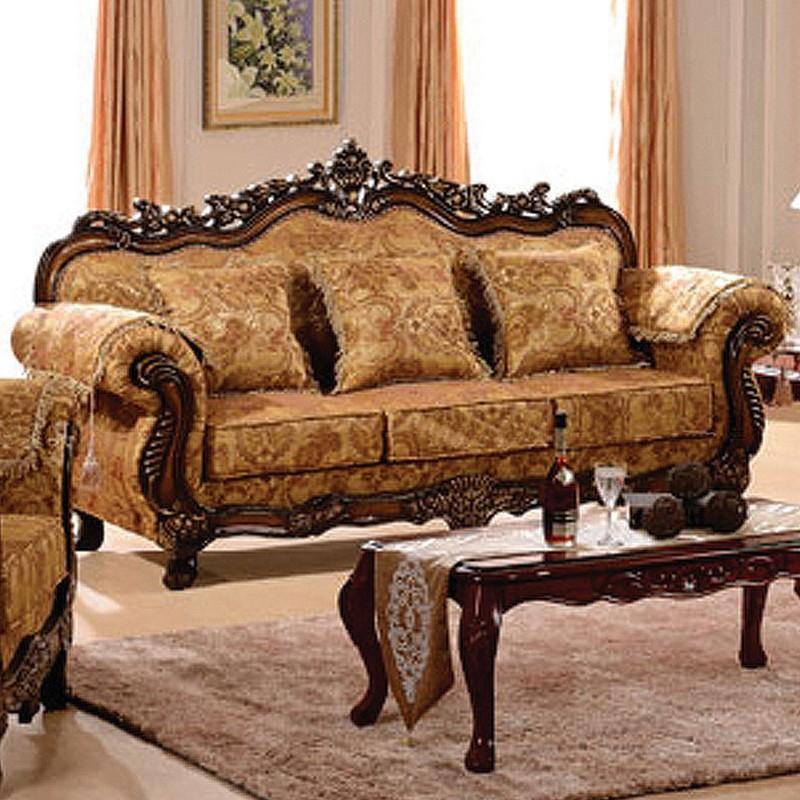 Traditional Wooden Sofa Set Designs