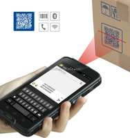 "Cilico Android 3g industrial smartphone with 2D barcode scanner,built-in NFC reader/writer,5""touch screen,Quad-Cord,CPU."