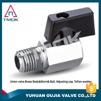 TMOK mini brass ball valve and male thread connection and high pressure ball valve