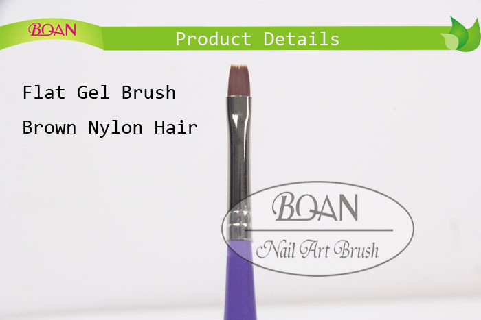 BQAN Factory Direct UV Coat Gel Nail Brush Wooden Handle Nylon Nail Brush