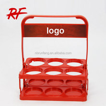 custom logo plastic beer bottle holder for 6 bottles