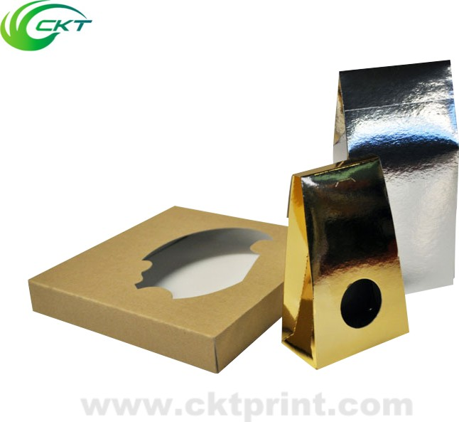 logo emboss silver or gold metallic paper box for cosmetic products packaging