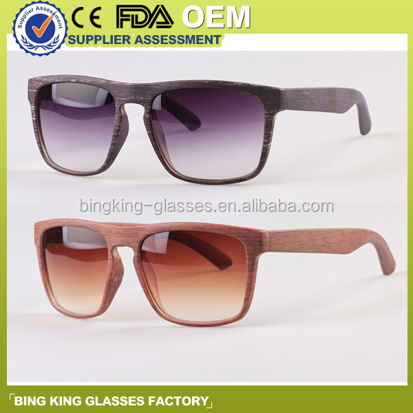 2016 Hot selling new products Gradient lens, wood, bamboo promotional sunglasses
