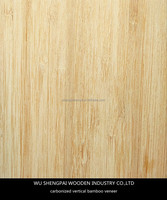 Sliced Cut Natural Carbonized Vertical Bamboo Wood Veneer for Wall Longboard Skateboards Laminated Face Sheets