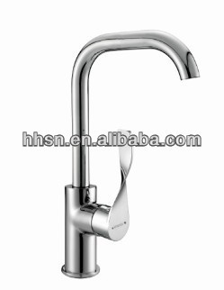 HH125100 Modern and unique design brass kitchen faucet, high quality chrome finished sink mixer