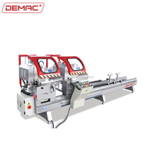 Aluminum and Upvc window door profile double head mitre saw
