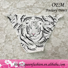 White tiger bikini panty pictures woman underwear and panties sexy printing new design hot panties