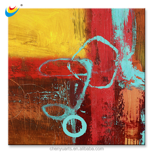 Warm Colour100% HandPainted Abstract Oil Painting Art Canvas Print Wall Home Decor Unframed Framed