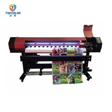 Factory promotion commercial advertising inkjet printer 1.68m 1.8m cmyk digital photo color printing machine price