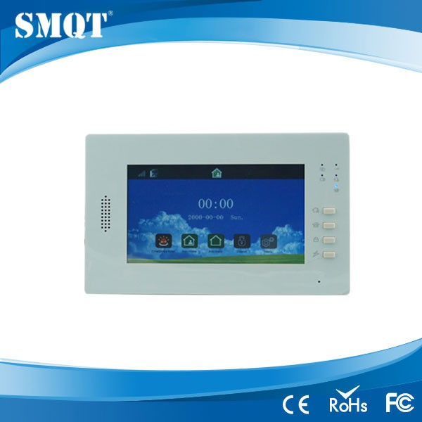 EB-839 Visualized Operation Platform LCD Wireless Touch Panel Wireless 868MHz Burglar Alarm System