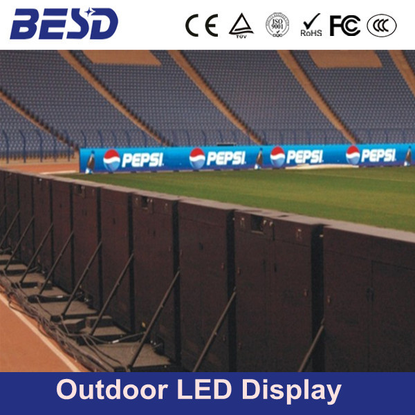Shenzhen P10 P16 P20 outdoor full color perimeter led display, stadium led screen, football stadium perimeter led display screen