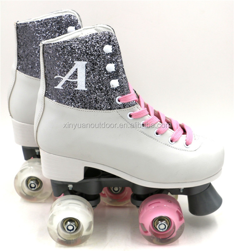 2017 fashion 4 wheel roller skates pink patines soy luna skate shoes
