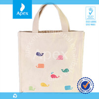 Custom printed recyclable shopping cotton tote bag