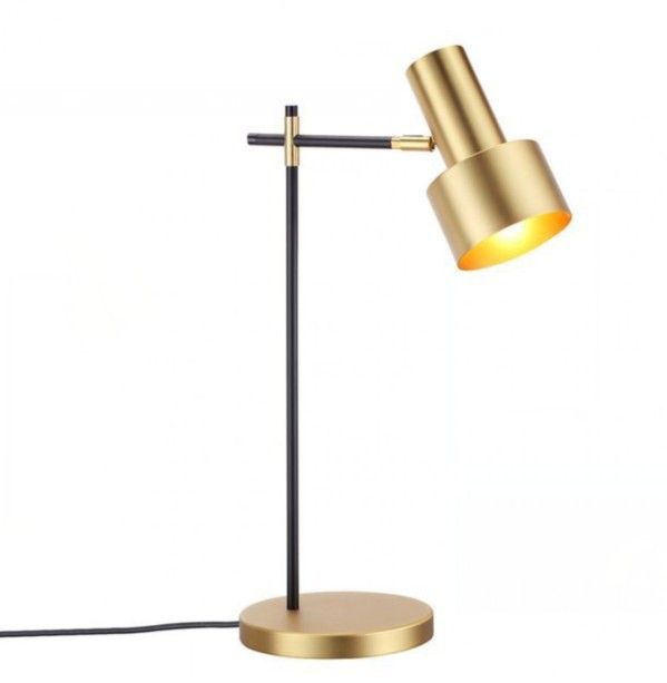 Modern interior gold metal children's reading table lamp