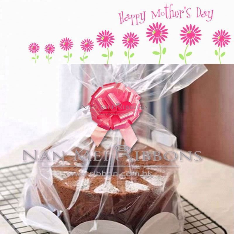Celebrate Mother's day Gift Decoration Idea Plastic Ribbon Pull Bow for Cake Food Love Package Bag Decoration