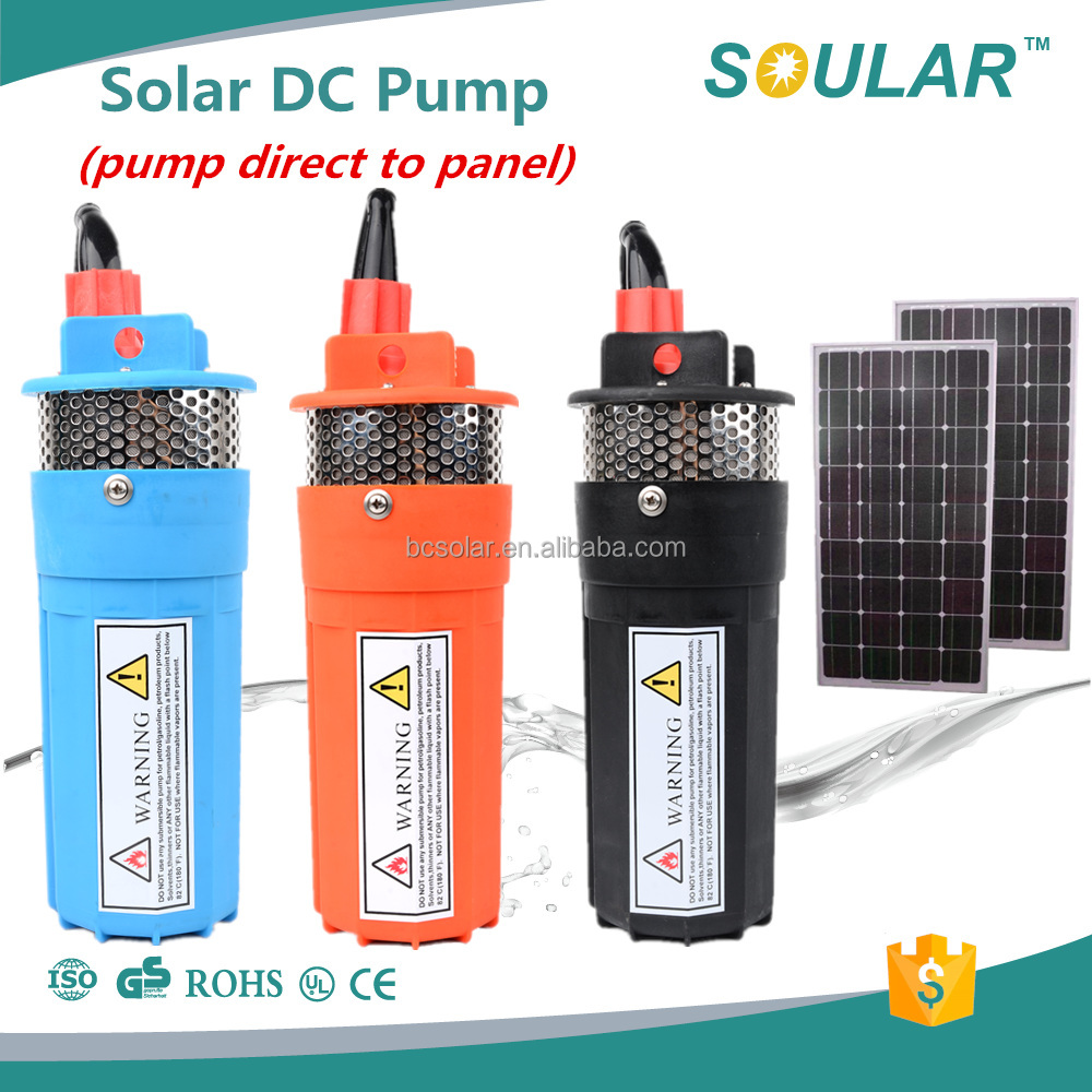 Best selling 12V/24V submersible solar water pump( 5 Years Warranty )