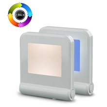 Baby Night Light For Kids,8 Colors Plug In LED Toilet Night Light,Dusk to Dawn Sensor LED Color Changing Nightlight
