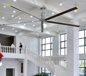 Large industrial hvls energy saving cooling ceiling fan