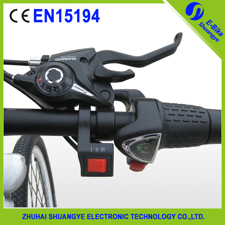 2015 Shuangye new design 36v 250w electric mountain bike 26 inch