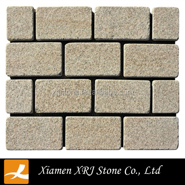 granite g682 tumbled cobble paving stone for sale