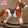 wholesale fashion kids' wooden rocking horse toy W16D069