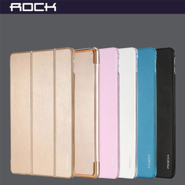 Rock Smart Sleep Magnetic Ultra thin PU Leather Flip Case Cover for iPad Air 2