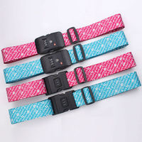 Travel all the world printing logo luggage belt with lock scale / personalized printing logo travel strap