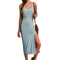 naked back dress soft material fashion slim design women