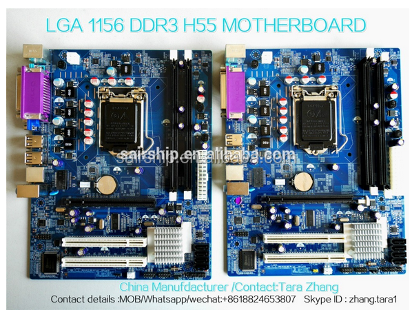 cheapest price !!!!Intel Chipset H55 Motherboard Socket 1156 Mainboard Support I3/I5/I7 desktop/laptop ddr3 Motherboard