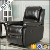 BJTJ classical modern design black leather sofa home set price 70162