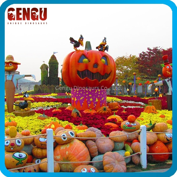Outdoor Funny Halloween Decoration - Fiberglass Pumpkin Model