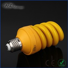 ISO90001 Certified yellow cfl spiral fluorescent lamp