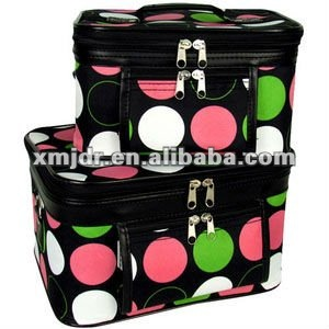 Dot polyester cosmetic case
