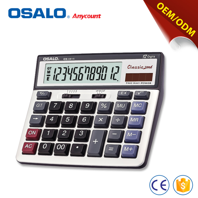 OS-6815 12 digits big display calculator factories