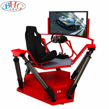 high quality 55''' HD screen 360 degree 6 dof vr driving simulator speed racing car <strong>games</strong>